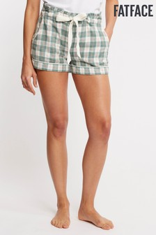 FatFace Green Check Short