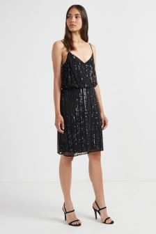 French Connection Black Strappy Dress