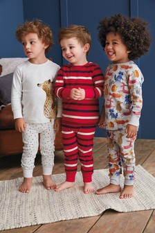 Woodland Snuggle Fit Pyjamas Three Pack (9mths-8yrs)