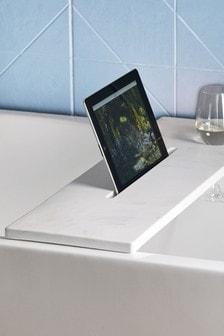 Marble Effect Bath Tray