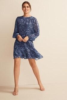 Long Sleeve Flippy Dress