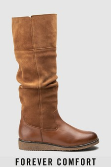 Forever Comfort Crepe Sole Slouch Boots