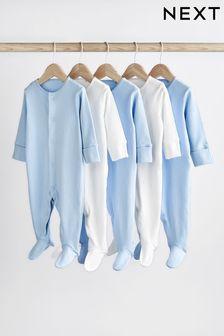 5 Pack Essentials Sleepsuits (0-12mths)