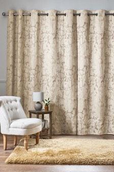 Leaf Trail Eyelet Curtains