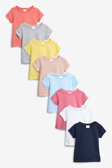 Short Sleeve T-Shirts Eight Pack (3mths-6yrs)
