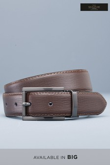 Signature Reversible Spanish Leather Textured Belt