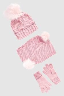 Hat, Scarf And Gloves Three Piece Set (Older)