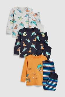Dragon Snuggle Fit Pyjamas Three Pack (9mths-8yrs)