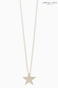 Cabbage White Star Necklace