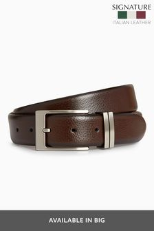 Signature Italian Leather Metal Loops Belt