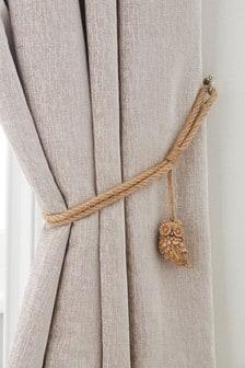 Set of 2 Owl Tie Backs