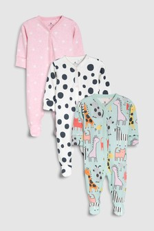 Character Spot Sleepsuits Three Pack (0mths-2yrs)