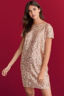 Sequin T-Shirt Dress