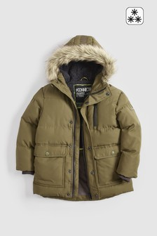 Longline Padded Faux Fur Lined Parka (3-16yrs)