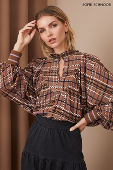 Sophie Schnoor Brown Check Blouse
