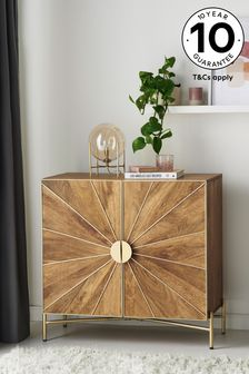 Sunburst Mango Wood Small Sideboard