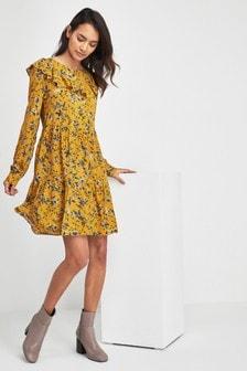 Ruffle Smock Dress