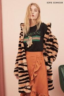 Sofie Schnoor Tiger Faux Fur Coat