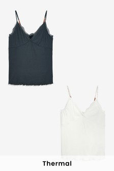 Next Elements Rib Lightweight Thermal Cami 2 Pack