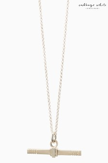 Cabbage White T-Bar Necklace