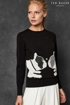 Ted Baker Black Bulldog Sweater