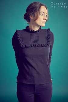 Outside The Lines Black Victoriana Blouse