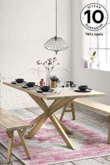 Amsterdam Light Mango Wood 6 Seater Dining Table
