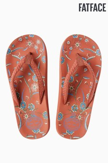 FatFace Orange Bay Sunset Floral Flip Flop