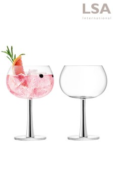 Set of 2 LSA International Platinum Gin Glasses