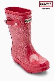 Hunter Original Pink Glitter Wellington Boot