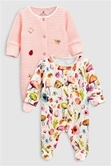 Woodland Sleepsuits Two Pack (0mths-2yrs)