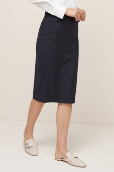 Pin Dot Pencil Skirt