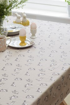 Linen Blend Wipe Clean Tablecloth