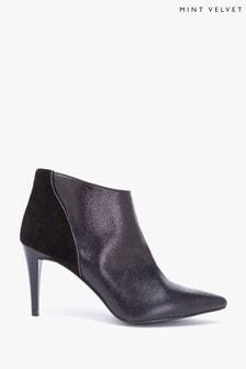 Mint Velvet Black Rhiannon Leather Boots
