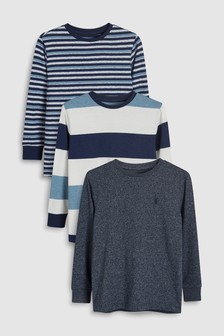 Long Sleeve Tops Three Pack (3-12yrs)