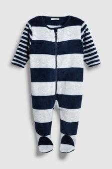 Stripe Fleece Sleepsuit (0mths-3yrs)