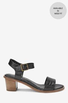 Leather Block Sandals
