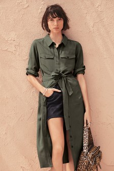 Soft Utility Shirt Dress