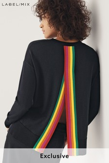 Mix/Madeleine Thompson Open Back Rainbow Knit