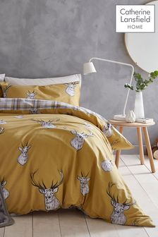 Catherine Lansfield Stag Duvet Cover and Pillowcase Set