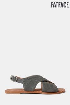 FatFace Grey Croyde Cross Strap Sandal