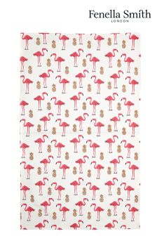 Fenella Smith Flamingo And Pineapple Tea Towel