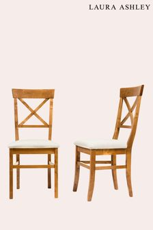 Balmoral Honey Pair Of Dining Chairs by Laura Ashley