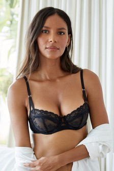 Lizzie Embroidered Non Padded Balcony Bra