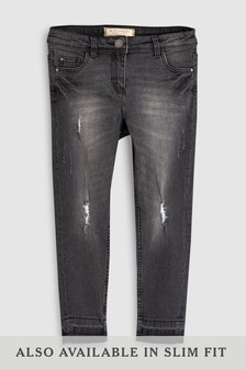 Distressed Skinny Jeans With Stickers (3-16yrs)