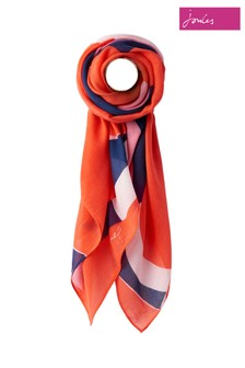 Joules Red Atmore Scarf