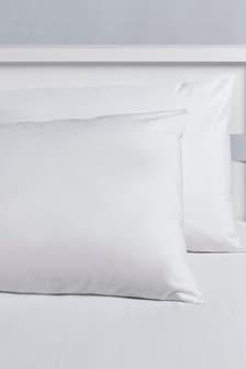 Set of 2 Micro-Fresh Plain Dye Pillowcases
