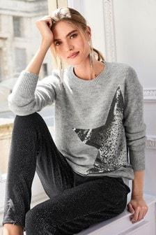 Sequin Star Sweater