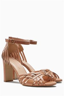 Leather Weave Sandals