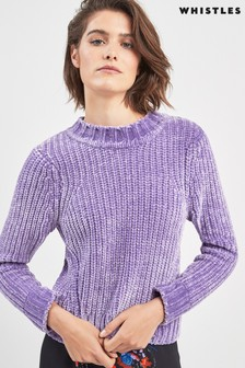 Whistles Lilac Chenille Sweater